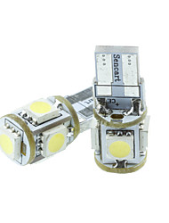 cheap -T10 Car Light Bulbs 1.5W SMD 5050 70-90lm 5 LED Exterior Lights For universal