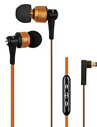 genuina awei 55vi cuffie da 3,5 mm in canale auricolare Super Bass con il microfono a distanza per iPhone6 6 più S6 (colori assortiti)