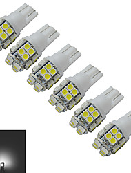 t10 decorazione luce 20 smd 3528 85lm bianco freddo 6000-6500k dc 12v