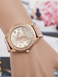 cheap -yoonheel Women's Wrist Watch Imitation Diamond Metal Band Fashion / Elegant / Simulated Diamond Watch Silver / Gold / Rose Gold / One Year / SODA AG4