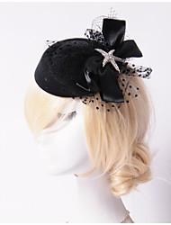 cheap -Women's Rhinestone Tulle Flannelette Headpiece-Wedding Special Occasion Outdoor Flowers Hats 1 Piece