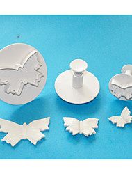 cheap -FOUR-C Large Butterfly Plastic Fondant Cake Plunger Cutters,High Quality Cake Decorating Tools Set