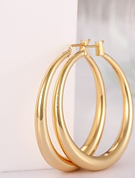 cheap -Women's Gold Plated Rose Gold Plated Hoop Earrings - Fashion Screen Color Rose Gold Circle Geometric Earrings For