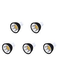 cheap -350-400 lm GU10 LED Spotlight MR16 1 leds COB Dimmable Warm White Cold White Natural White AC 220-240V AC 85-265V