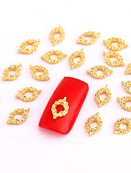 cheap -10PCS Gold Nail Art Jewelry Vintage Pattern Aryclic Nail Tips Decorations Nail Art Glitters for Nails