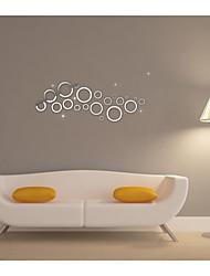 spejl wall stickers Vægoverføringsbilleder, byggemarkeder cirkel spejl akryl wall stickers