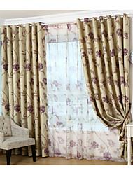 Paese curtains® un pannello viola tenda blackout floreale