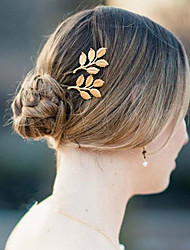 cheap -Headwear / Barrette / Hair Pin with Floral 1pc Wedding / Special Occasion / Casual Headpiece
