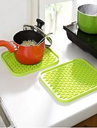Pot Holder & Luva de Forno For Para utensílios de cozinha Aço Inoxidável Plástico termo-isolante