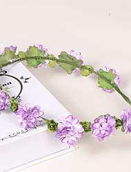 cheap -Lavender Paper/Plastic Wreaths With Wedding/Party Headpiece Elegant Style