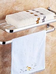 Portasciugamani a muro Mensola del bagno Portasciugamani termico / Cromo Acciaio inossidabile /Contemporaneo