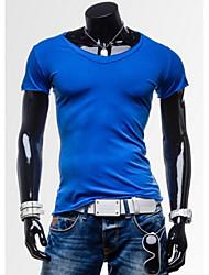 economico -MEN - T-shirt - Informale Maniche corte Cotone