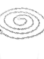 cheap -Men's Women's Fashion Chain Necklace Silver Sterling Silver Gold Plated Chain Necklace , Party Daily Casual