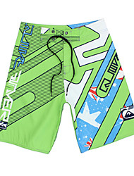Men's Quick-Drying Breathable Bottoms Prints Beach/Swim Shorts Polyester Summer Green/Blue/Navy Blue