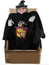 Недорогие -Новинка пугать смешно двигаться Деревянные игрушки на электрические вспышки черное платье лицо