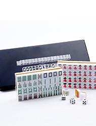 preiswerte -Leder boxed poketable Reise Mini Mahjong mit Lineal