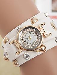 cheap -yoonheel Women's Quartz Bracelet Watch Hot Sale Leather Band Bohemian Fashion Black White