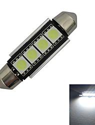 cheap -80-90 lm Festoon Decoration Light 4 LED Beads SMD 5050 Cold White 12 V