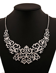 cheap -Women's Cubic Zirconia Statement Necklace - Statement Gold Silver Necklace For Party