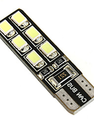 cheap -2 x Car T10 LED 12-2835SMD CANBUS W5W 194 168 Door Map Bulbs