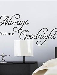 mi ha sempre bacio della buonanotte adesivo preventivo zooyoo2003 decorativo adesivo de parede autoadesivo smontabile della parete