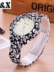 cheap -Women's Quartz Wrist Watch Hot Sale Silicone Band Casual Skull Fashion Multi-Colored