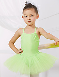 cheap -Ballet Leotards Training Performance Spandex Tulle Sleeveless Princess Dress
