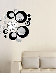 Hot Sale Fashion Removable Clock Mirror Style DIY Art Wall Stickers Decal Mural for Home Decor (Two Colors Options)