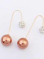 economico -Per donna Perle finte Strass Europeo Perla Perle finte Perla grigia Perla rosa Perla d'oro Perla Nera Lega Gioielli