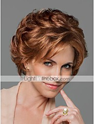 cheap -Grace Style High Quality Capless Short Wavy Mono Top Human Hair Wigs Eight Colors to Choose