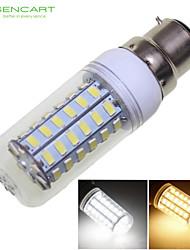 cheap -SENCART 1600-1900lm B22 LED Corn Lights 56 LED Beads SMD 5730 Decorative Warm White / Cold White 220-240V / 110-130V / RoHS