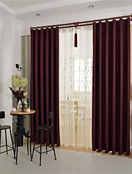 Недорогие -Страна curtains® одна панель вина твердой затемнения занавес
