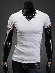 preiswerte -Informell/Party/Business Hemdkragen - Kurzarm - MEN - T-Shirts ( Baumwolle/Lycra/Polyester )