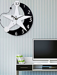cheap -Modern / Contemporary Wood / Plastic Indoor / Outdoor,AA Wall Clock