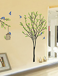 cheap -Animals Cartoon Botanical Wall Stickers Animal Wall Stickers Decorative Wall Stickers, Vinyl Home Decoration Wall Decal Wall Decoration