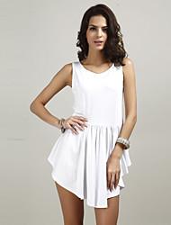 お買い得  -女性用 クラシック・タイムレス フレア ドレス - 純色, ソリッド 膝上