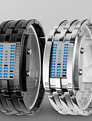cheap -Men's Digital Digital Watch Wrist Watch Water Resistant / Water Proof LED Alloy Band Luxury Black Silver
