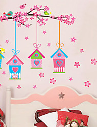 billige -Romantik Blomster Botanisk Vægklistermærker Fly vægklistermærker Dekorative Mur Klistermærker, Vinyl Hjem Dekoration Vægoverføringsbillede