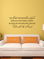 cheap -Wall Stickers Wall Decals Style THe Best And Most  Beautiful Things English Words & Quotes PVC Wall Stickers