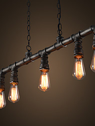 Industrial VIntage Style LOFT Water Pipe Chandeliers Retro Classic Edison Personalized Fixture Lighting