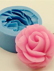 ustensiles de cuisson en silicone rose moules de cuisson pour gâteau fondant bonbons de chocolat (couleurs aléatoires)
