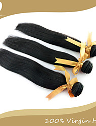 Недорогие -Перуанские волосы Классика Прямой силуэт Ткет человеческих волос 3 предмета Высокое качество 0.3 Повседневные