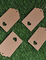 Kraft Paper  Labels (Set of 50)----Rectangle without Ribbon