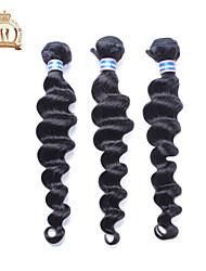 Недорогие -Пряди натуральных волос Реми Высокое качество Более года 0.3 Повседневные Классика Свободные волны
