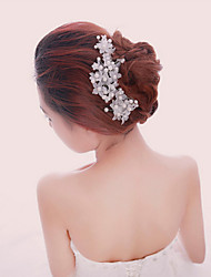 cheap -Pearl Crystal Fabric Alloy Tiaras Headbands Hair Combs Flowers Hair Pin Head Chain 1 Wedding Special Occasion Party / Evening Outdoor