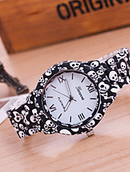 cheap -Women's New Fashion Geneva Skull Patterns Printing Bracelet Watches Cool Watches Unique Watches