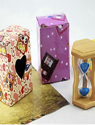 cheap -Wooden Frame 1 Minute Sandglass Timer Hourglass Sandy Clock Home Decorations