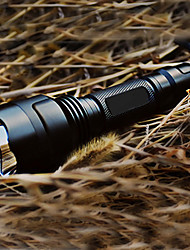 LED Flashlights/Torch Handheld Flashlights/Torch LED 200 Lumens 5 Mode Cree XR-E Q5 1 x 18650 Battery Rechargeable Tactical for