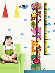 adesivi murali giraffa grafico di crescita per i bambini camera dei bambini zooyoo6335 decalcomanie animale muro ragazze arte regalo di