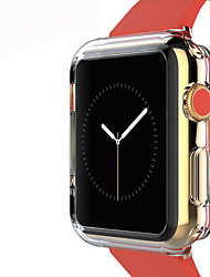 abordables -TPU funda protectora de color transparente para Apple Watch 3 series 2 1 iWatch (42mm 38mm)